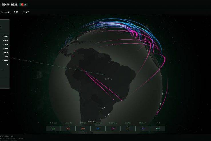 Site mostra ataques ciberneticos em tempo real