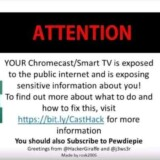 Ataque hacker mira dispositivos Chromecast e Smart TVs