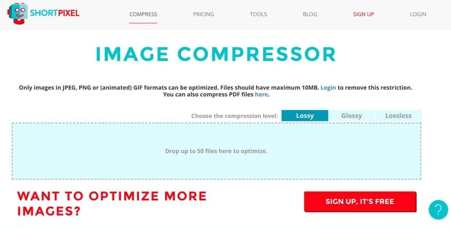 Como comprimir imagens para blogs