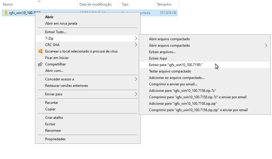 Como extrair um arquivo no formato ZIP
