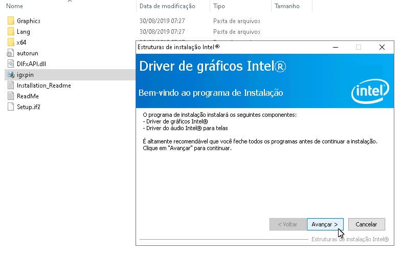Como instalar o driver de vídeo da Intel