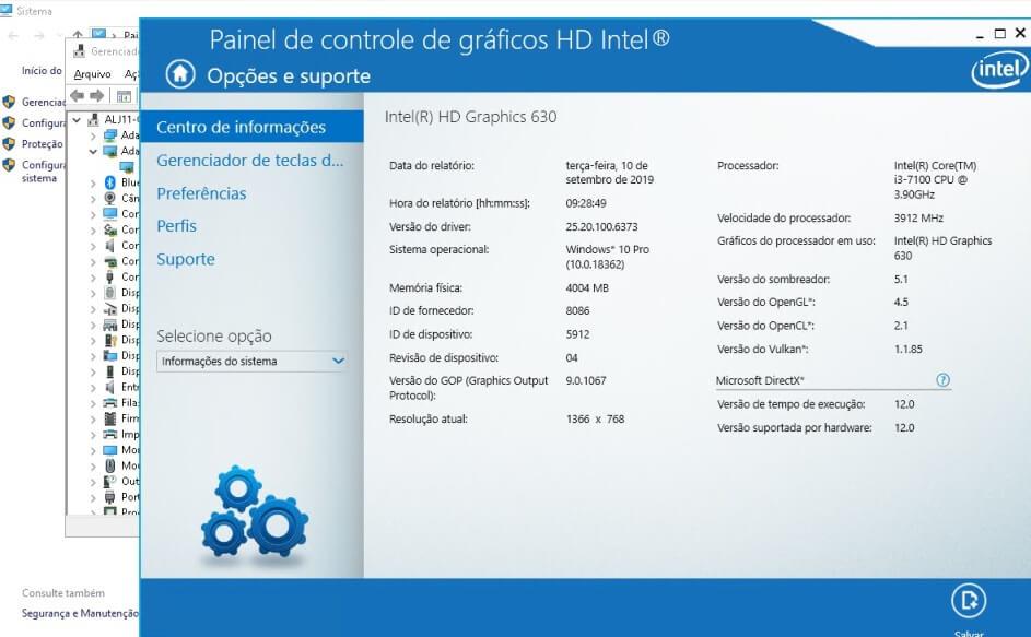 Driver da Intel que causa o erro do painel de controle que fecha sozinho no Windows 10