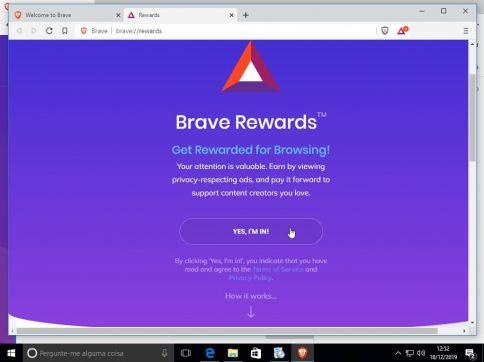 Recompensas do Navegador Brave