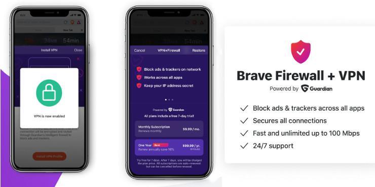 Brave VPN e Firewall