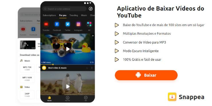 Como baixar músicas do YouTube usando o Snappea