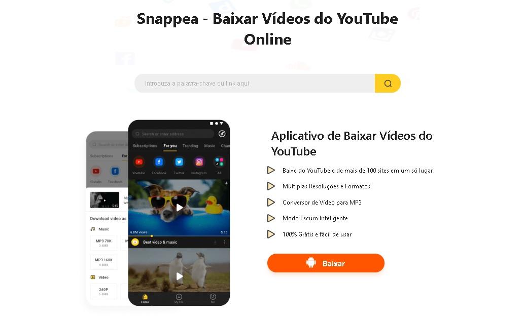 Snappea baixar músicas do YouTube