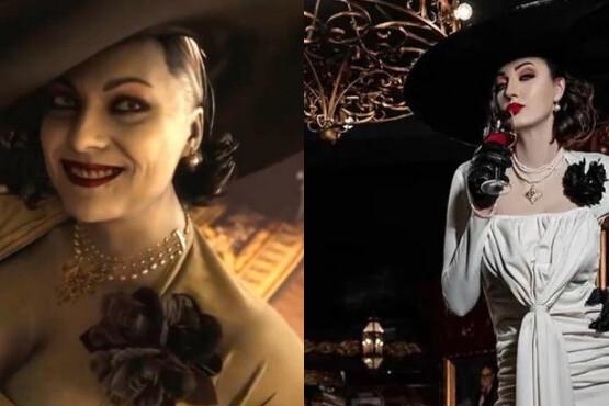 Resident Evil Village Cosplay de Lady Dimitrescu - Ekaterina Lisina