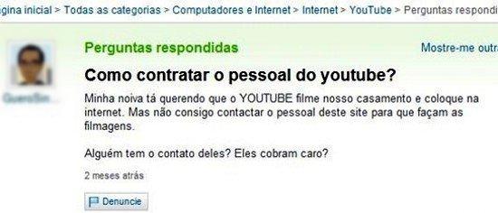 Como contratar o pessoal do youtube?